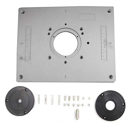 KKmoon Router Platte 300 * 235 * 9,5mm Gravur Flip Board DIY Router Tischeinsatz Board Trimmer Holz Graviermaschine Router Board