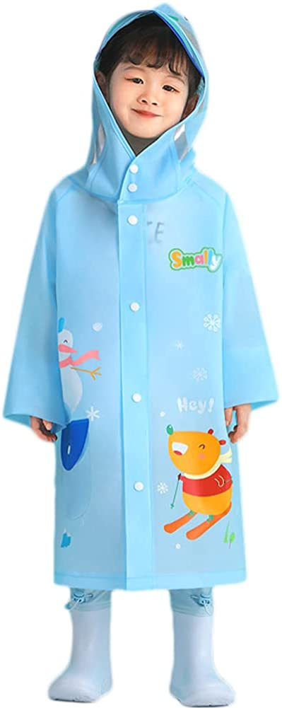 Lazeny Kids Raincoats Boys Girls Rainwear Hooded Animal Waterproof Rainsuit Poncho Rain Jackets Puddle Suits for 2-10 Years
