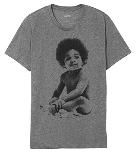Ready to Die Baby Notorious B.I.G Biggie Hip Hop Unisex T-Shirt (Large, Gray)