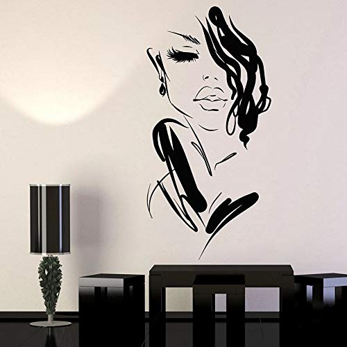 Tianpengyuanshuai muursticker voor dames, mooie mode, meisjes, motief: ramen, vinyl, stickers voor slaapkamer, decoratie voor schoonheidssalon