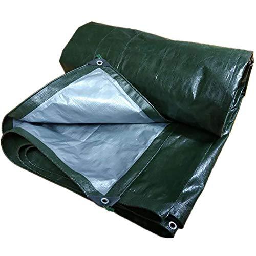 LRZLZY Lona Impermeable anticongelante Protector Solar a Prueba de Polvo Anti-envejecimiento al Aire Libre, 13 Tamaños Respetuoso del Medio Ambiente (Color : Green, Size : 3.8X9.8M)