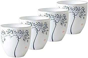 HwaGui Chinese Ceramic Kung Fu Tea Cups Set of 4 150ml/5.1oz