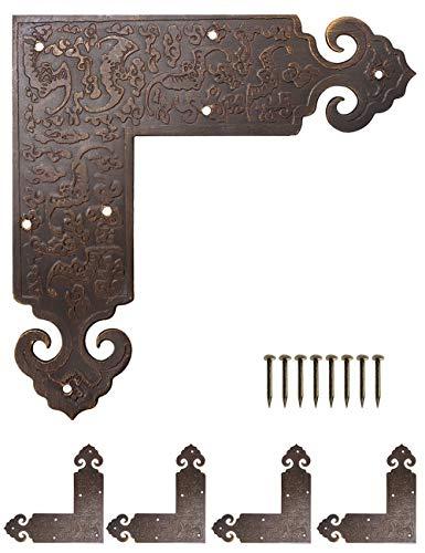 Fuxer® - 4 conectores decorativos de esquina para herrajes,