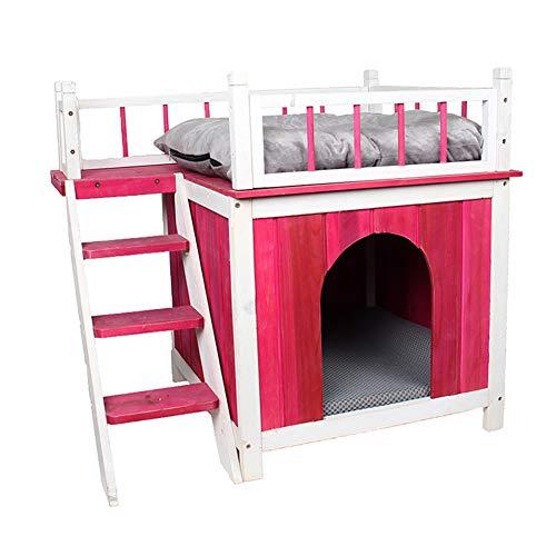 KJUHVBF Caseta para animales respetuosa con el medio ambiente, resistente y duradera, fácil de mover, sucia, mordida y fácil de limpiar, adecuada para uso en interiores para mascotas.