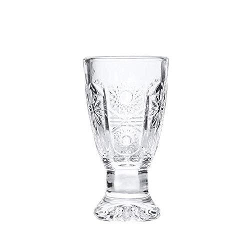 Copa de Licor Set Home Pequeña Copa de Espirituosa de Vidrio Transparente...