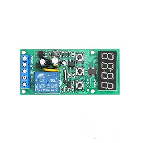 Doe-het-zelf 7 ~ 27 V DC / AC-timer besturing van de klokbesturing vertraging relaismodule brede stroomvoorziening tijdschakelaar instelbaar digitaal dual display vertragingsmodule synchroniseren met tijdzone circui
