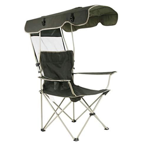 JYQ-SZRQ Silla de Camping Plegable Portable al Aire Libre Silla de Playa a la Sombra del pabellón de Protección Solar portátiles Sillas de Servicio Pesado con Soporte for la Copa Pesca Playa Jardín