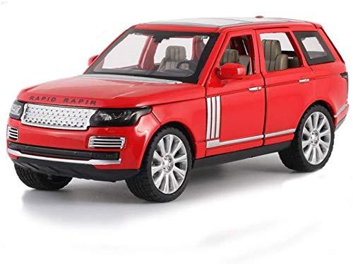 hclshops Modelo de Coche Range Rover Modelo de 1,24 Simulación Simulación de fundición de aleación Modelo de Niños 19x7.5x7cm Regalo (Color, Metálico Negro), Metálico Negro