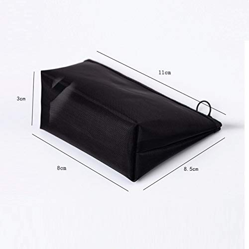 1PCS Women Men Necessary Cosmetic Bag Transparent Travel Organizer Fashion Small Large Black Toiletry Bags Makeup Pouch Size S