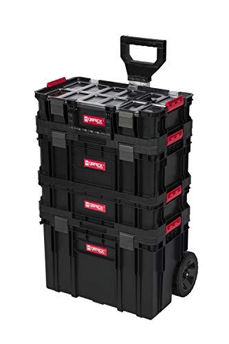 """XL Werkzeugtrolley, Werkstattkoffer Set, Werkstattwagen Set aus""""Q-Brick"""" Serie mit viel Zubehör! B x T x H in cm: 53 x 38 x 98 cm ! Der mobile Alleskönner - Privat & Gewerbe (Set 1)"""