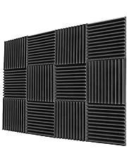 ألواح إسفنجية صوتية مقاس 2.54 سم × 30.48 سم × 30.48 سم بطانة مضادة للصوت من الإسفنج الصناعي (24 قدم مربع)