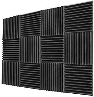 """Acoustic Foam Panels 1""""x12""""x12""""– Acoustic Panels, Sound Proof Padding, Sound Proof Foam Panels, Soundproofing Foam Panel, Studio Foam, Soundproof Foam, Acoustic Panel, Sound Foam Wedges"""