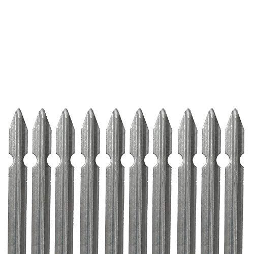 10 PZ Palo paletto in ferro a T 30x30x3 mm zincato a caldo in zinco per rete recinzione metallica TUTTE LE MISURE - MADE IN ITALY (H 175 cm)