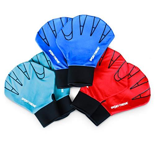 Sport-Thieme Aquafitness-Handschuhe aus Neopren | Geschlossene Schwimmhandschuhe für Aquafitness, Aquajogging, Wassergymnastik | In S, M, L | Blau, Rot,Türkis | Markenqualität