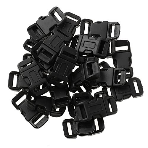 Freebily 5Pcs Hebillas de Liberación Metálica Lateral Alta Resistencia para Pulseras de Supervivencia Collar de Gato Perros Negro 32mm