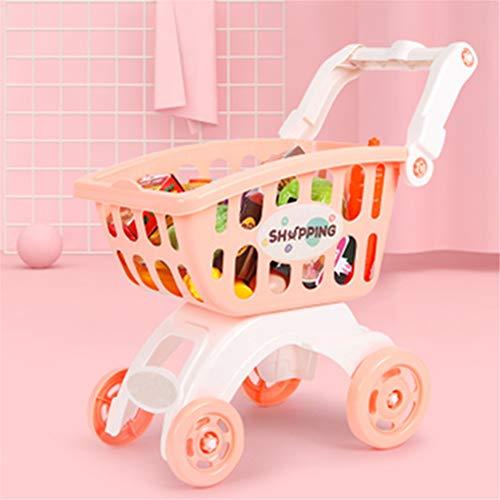 BaoYPP Deluxe Juguete Carrito de la Compra Simulación Chica diversión Infantil Compras Juguete alojamiento del Carro Paquete Los Juegos de simulación Shop y rol de Juegos para niños