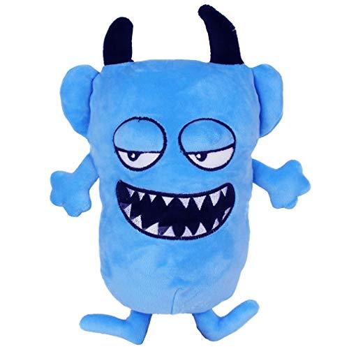 YXiang Muñeco de Peluche Monstruo Divertido Monstruo Feo Peluche Regalo de cumpleaños de Halloween Juguete para niños (20 cm) (Azul)