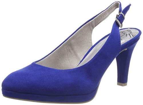 MARCO TOZZI Damen 2-2-29603-22 Slingback Pumps, Blau (Royal 838), 37 EU