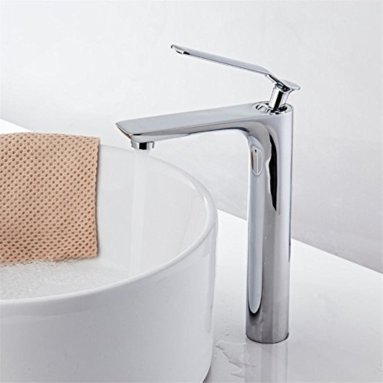 AQMMi Waschtischarmatur Mischbatterie Messing Warmes Und Kaltes Wasser Einzelne Bohrung Einhandmischer Für Bad Badenzimmer Waschbecken