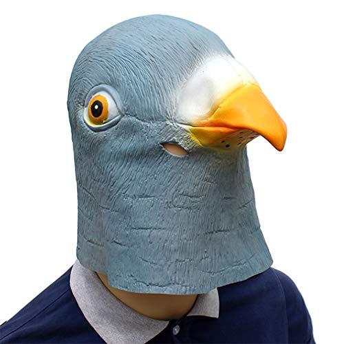 DUBAOBAO Halloween masker vakantie partij levert duif latex dier maskers volwassen mannen en vrouwen jongens en meisjes kinderen Halloween masker