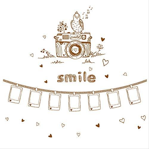 Creatieve persoonlijkheid fotolijst foto muur plakken verhuur huis verbouwde kamer decoratie muursticker warme muur Stickers