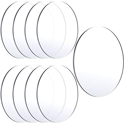 8 Pieces Clear Acrylic Sheets Round Acrylic Discs 1/12 Inch Thick Acrylic Panel Transparent Acrylic Board for DIY Craft Project Signs Picture Frame Display, 6 x 6 Inch