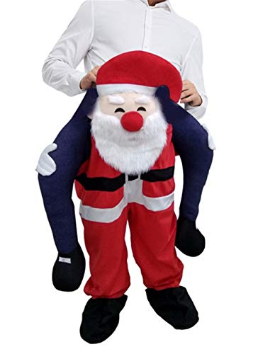 Santa Claus Shoulder Carry Halloween Costume Ride On Mascot Fancy Party Dress Adult