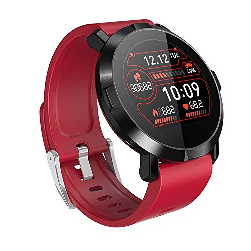 Xiao huang li horloge fitness armband/horloge met hartslagmeter/stappenteller/bloeddrukmeter/multifunctioneel/waterdicht/zwart, rood