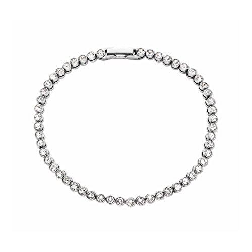 NOELANI Damen-Armband Tennisarmband 18cm rhodiniert veredelt mit Kristallen von Swarovski