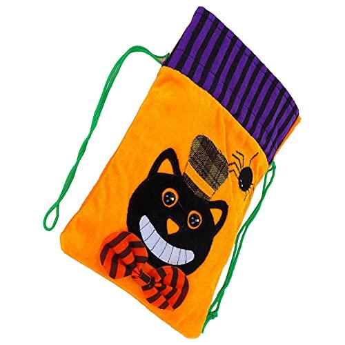 Bolsas De Regalo De Arpillera De Halloween, Bolsa De Dulces De Truco O Trato Bolsa De Halloween Decoración Para Bolsas De Regalo Bolsas De Regalo De Fiesta O Bolsas De Almacenamiento(Gato negro)
