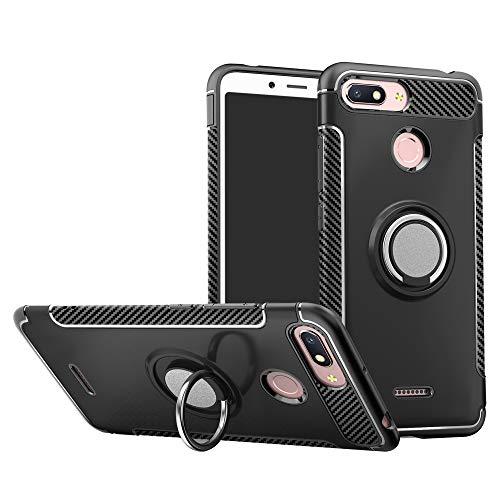 Labanema Xiaomi Redmi 6 / Redmi 6A Custodia, 360 ° + 180 ° Girevoli Custodia Protettiva in TPU & PC Morbida, Compatibile con Supporto Magnetico per Auto-Nero