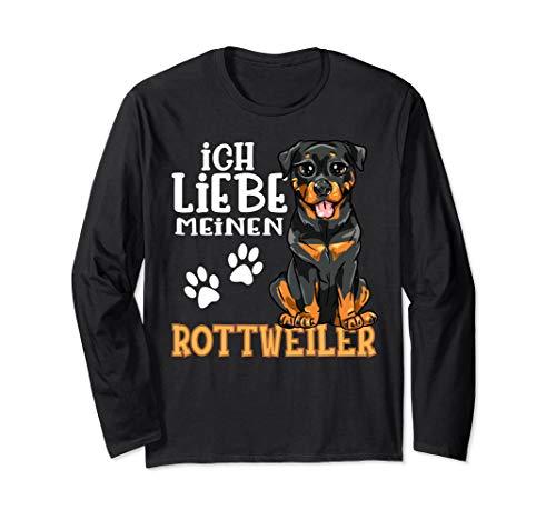 Niedlicher Rottweiler Rotti Hund Ich Liebe Meinen Rottweiler Langarmshirt