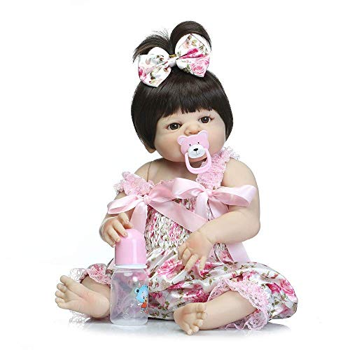 Reborn Dolls, 57cm Ganzkörper Silikon Rebirth Baby Doll Girl Lebensechte Wiedergeburt Prinzessin Doll Geburtstag zum Mädchen