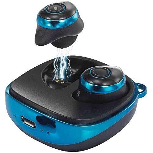 Renkforce RF-BTK-200 True Wireless In Ear Kopfhörer In Ear Headset Blau, Schwarz