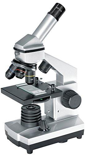 Bresser Mikroskop BIOLUX CA 40x-1024x Mikroskop Set mit Auflicht- und Durchlichtbeleuchtung inklusive Smartphone Kamera Halter, umfangreichem Zubehörpaket und stabilem Transportkoffer