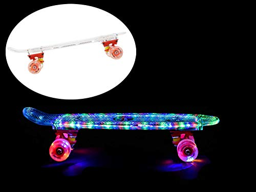 MAXOfit® Mini Cruiser Retro Skateboard Komplettboard American Style 55cm 22"