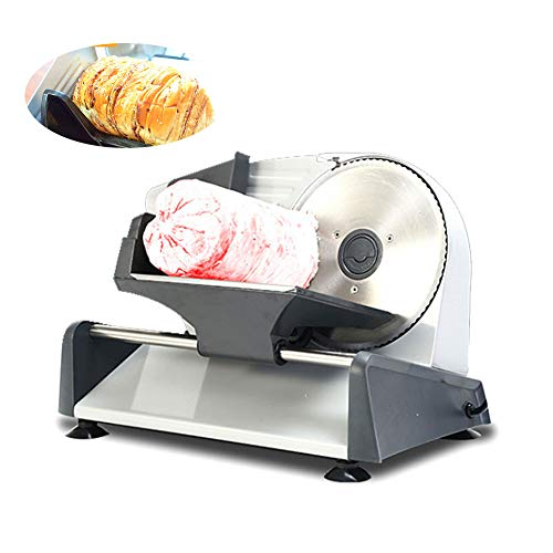 Removable 7.5'' Blade Electric Deli Food Slicer, Meat Slicer with Child Lock Protection and Non-Slip Feet for Meat, Cheese, Bread,UK Plug