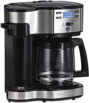Hamilton Beach 2-Way Brewer Coffee Maker Single-Serve and 12-Cup Pot Stainless Steel  49980A  Carafe