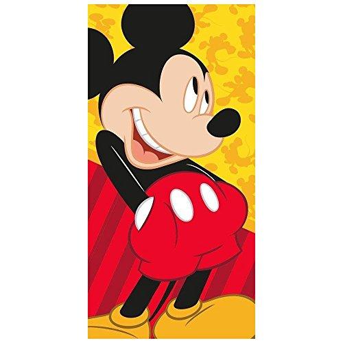 Toalla de baño y playa Disney Mickey Mouse, 100% algodón, diseño de personajes 70 x 140 cm