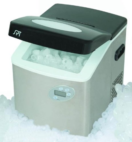 SPT IM-101S PORTABLE ICE MAKER WITH STAINLESS STEEL HOUSING