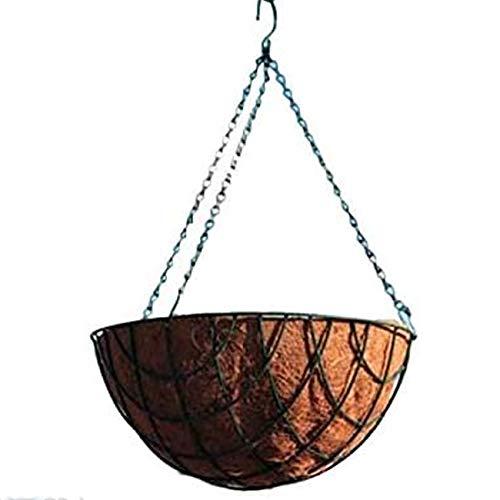 Hänge-Blumentopf COCO 30 cm inkl. eleganter Kette und Aufhänger in Olivgrün zur Dekoration im Innen- und Außenbereich