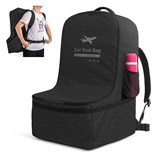 Luxja Kindersitze Transporttasche, kindersitz Tasche Flugzeug, Kindersitze Reisetasche mit Rucksackriemen für Reise und Unterwegs, Schwarz