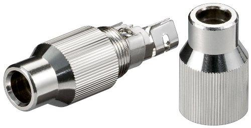 Unbekannt 10 Stück Koaxial-Kabelverbinder im Metallgehäuse Schraubbar