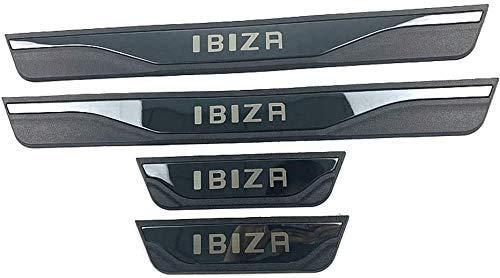 4pcs Placas Protectoras del Protector del umbral de la Puerta Exterior del Coche para Seat Ibiza FR TGI 2015-2020, Accesorios para automóviles de Acero Pedal de la Cubierta del umbral