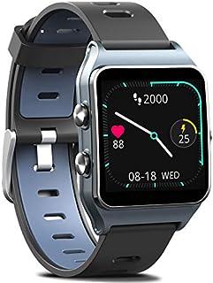 FITVII Reloj inteligente GPS con 17 modos deportivos y seguimiento de actividad, IP68, impermeable, natación, pantalla táctil, monitor de frecuencia cardíaca, monitor de sueño, con podómetro, contador de pasos y calorías para mujeres y hombres, Gris