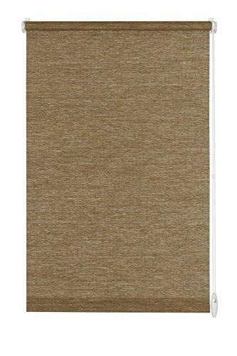 GARDINIA Rollo zum Klemmen oder Kleben, Tageslicht-Rollo, Blickdicht, Alle Montage-Teile inklusive, EASYFIX Rollo Natur, Nougat, 75 x 150 cm (BxH)