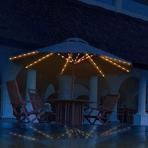 'N/A' Paraguas Paraguas Luces 8 Cuerdas Luces 104 Leds 8 Modos De Iluminación con Control Remoto Aparta Batería Impermeable Luces De Paraguas para Exteriores Al Aire Libre, Batería No Incluida