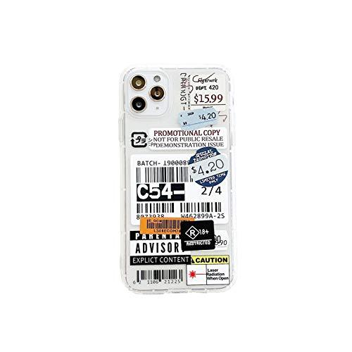 Moda retro etiqueta teléfono casos para iPhone 11 12 Mini Pro XS Max X XR 7 8 Plus Luxur suave TPU Airbag cubierta 12pro 11pro 12mini-1-para iPhone 12pro max