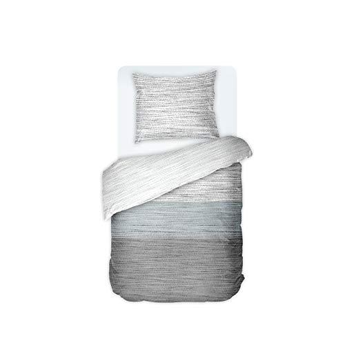 DILIOS Bettwäsche Set 135x200 cm, 2-teilig, Renforce 100% Baumwolle mit Reißverschluss, Dessin Mist, Öko-Tex-Standard 100, Bettbezug 135 x 200 cm, Kissenbezug 80 x 80 cm
