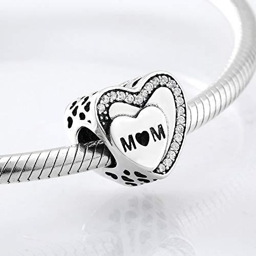 DASFF Moederdaggeschenk 925 sterling zilver hartvormige moeder parels passen originele bedelarmband sieraden